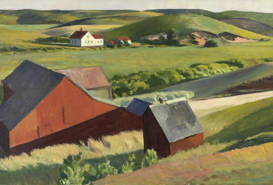 Edward Hopper, Cobb's Barns and Distant Houses, Hoper Ausstellung, Edward Hopper Kunstwerke, Fondation Beyeler
