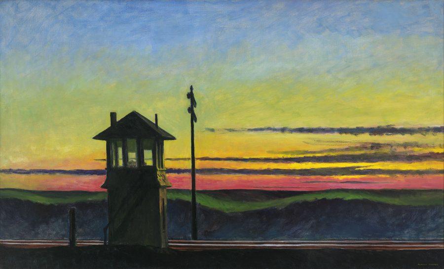 Edward Hopper, Railroad Sunset, Hoper Ausstellung, Edward Hopper Kunstwerke, Fondation Beyeler