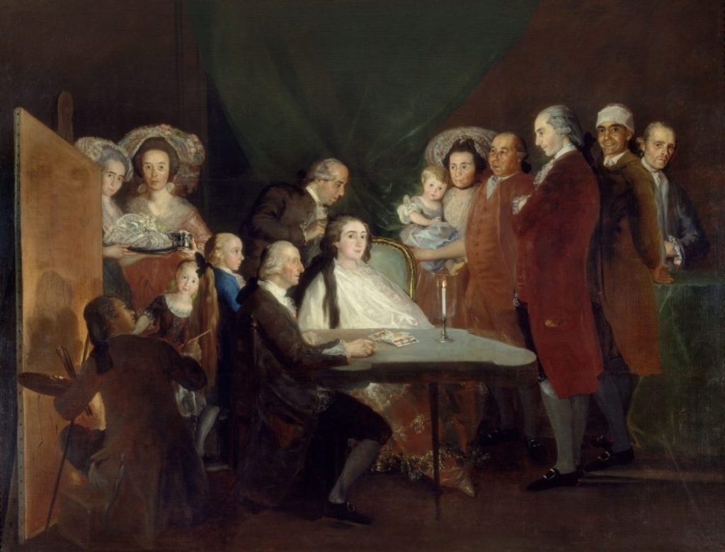 Goya, Francisco de Goya, Die Familie des Infanten Don Luis, Fondation Beyeler, Goya Werke und Bilder,
