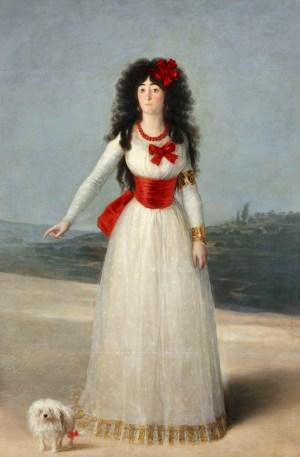 Goya, Francisco de Goya, Doña María del Pilar Teresa, Fondation Beyeler, Goya Werke und Bilder,