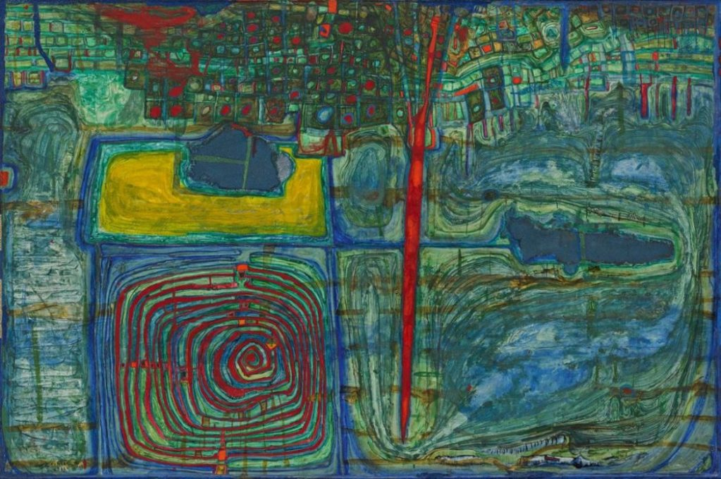 Friedensreich Hundertwasser, Sonne für die, die auf dem Lande weinen, The Beginning, Albertina Modern,