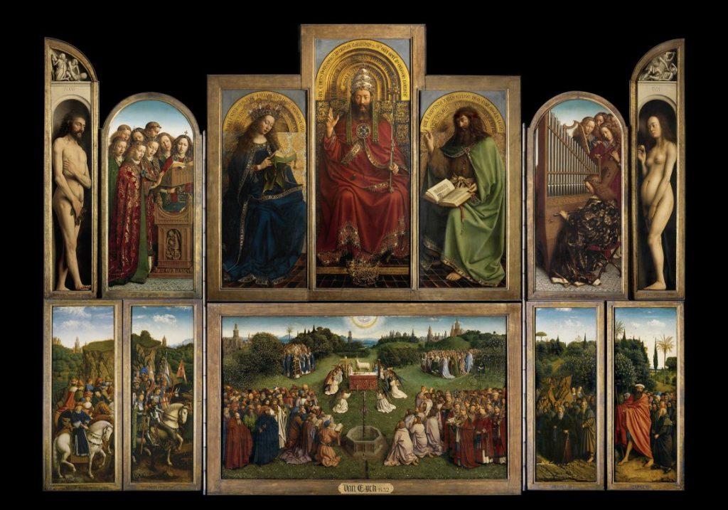 Jan van Eyck, Genter Altar, Flügelaltar, Saint-Bavo's Cathedral Ghent