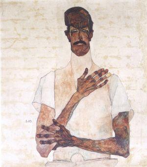 EGON SCHIELE, Bildnis Dr. Erwin von Graff