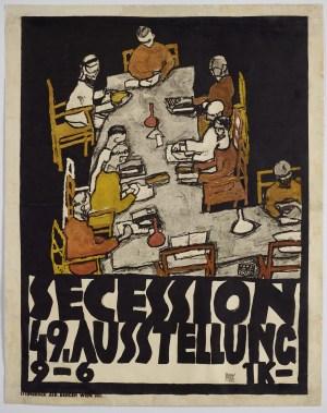Tafelrunde, Plakat für die 49. Ausstellung der Wiener Secession