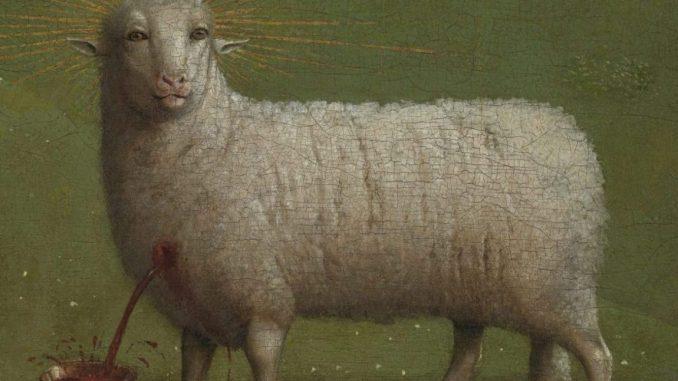 Die Anbetung des Lamm Gottes, Jan van Eyck, Genter Altar, Flügelaltar, Lamm Gottes, Heimkehr des Lammes, St.-Bavo Kathedrale