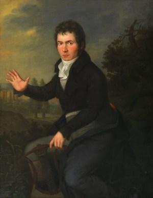 Willibrord Joseph Mähler: Porträt Ludwig van Beethoven, BEETHOVEN WELT, BÜRGER, MUSIK Bundeskunsthalle Bonn, Wien Museum