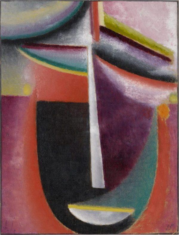 Alexej von Jawlensky - Abstrakter Kopf, Mysterium, Kunstmuseum Basel, Meisterwerke der Sammlung Im Obersteg