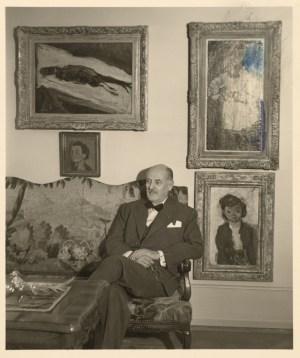 Karl Im Obersteg auf dem Sofa sitzend, Kunstmuseum Basel, Meisterwerke der Sammlung Im Obersteg