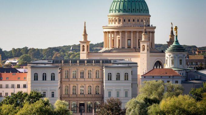 Museum Barberini, Blick auf Potsdams historischen Stadtkern mit Museum Barberini,