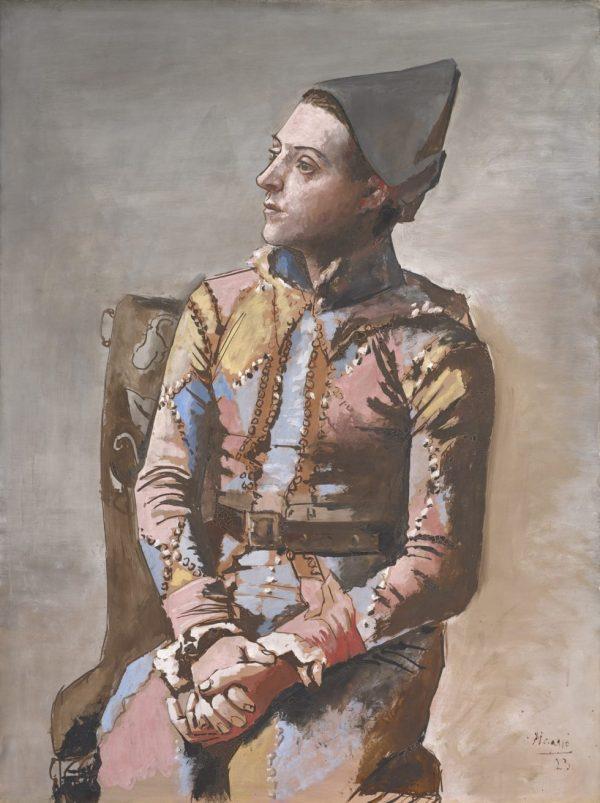 Pablo Picasso, Arlequin assis, Kunstmuseum Basel, Meisterwerke der Sammlung Im Obersteg