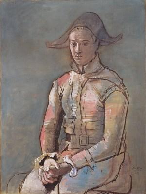 Pablo Picasso, Arlequin assis, Kunstmuseum Basel, Meisterwerke der Sammlung Im Obersteg, Ausstellung Picasso