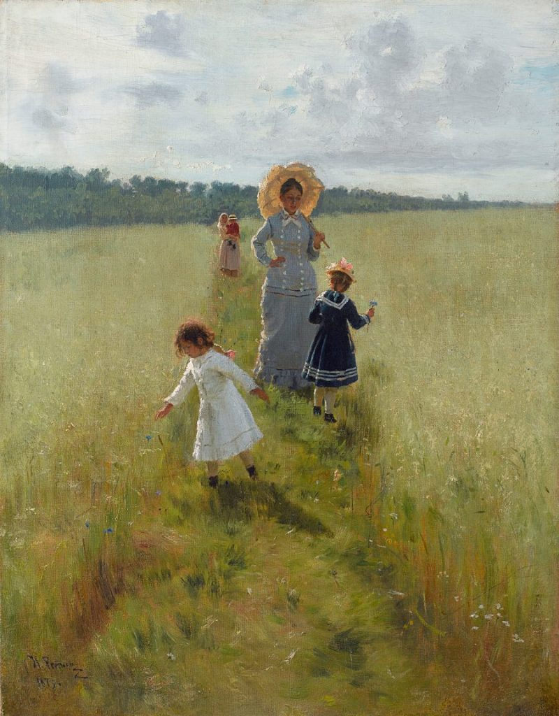 Ilja Repin, Auf dem Feldrain, Impressionismus in Russland