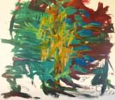 Josef Schmölz, Acryl auf Leinen, 100x100 cm, Kampf der Winde