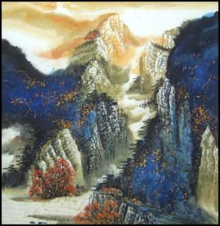 Yang qiaoling, Ink on Xuan Paper, Landscape3, Size (68x68cm)2015
