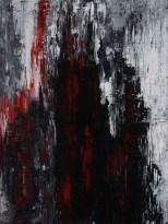 Sascha Weinberg: BranII, 60x80x1,8cm, Acryl auf Leinwand, Spachteltechnik, 2014   Art On Screen - [AOS] Magazine