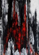 Sascha Weinberg: Bran, 50x70x1,8cm, Acryl auf Leinwand, Spachteltechnik, 2014   Art On Screen - [AOS] Magazine
