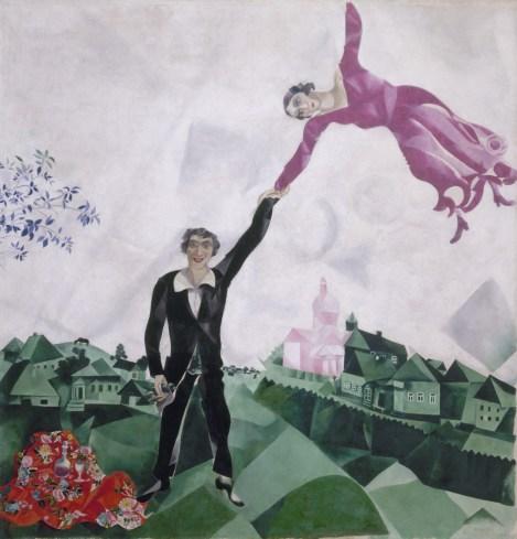 Marc Chagall, Der Spaziergang, 1917-1918, St. Petersburg, Staatliches Russisches Museum © Bildrecht, Wien, 2015