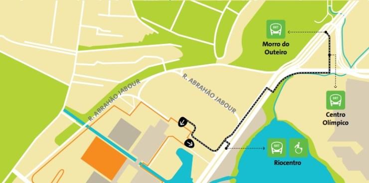 como chegar a barra da tijuca olimpiadas-mapa-Riocentro