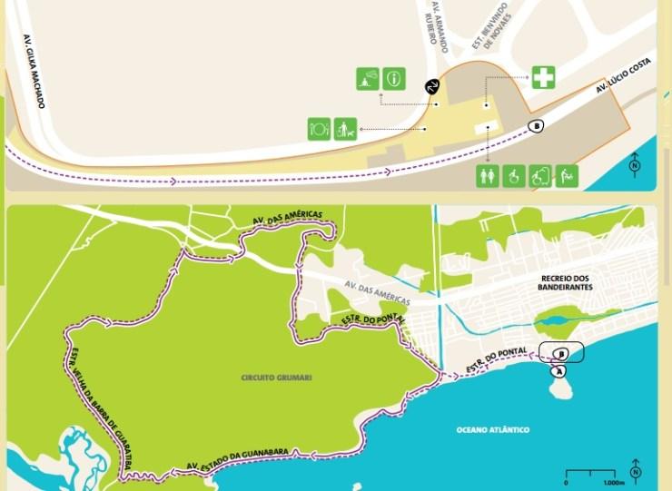 como-chegar-a-barra-da-tijuca-olimpiadas-mapa-bike-estrada-2 Como chegar a Barra da Tijuca   Guia Olímpico Rio 2016