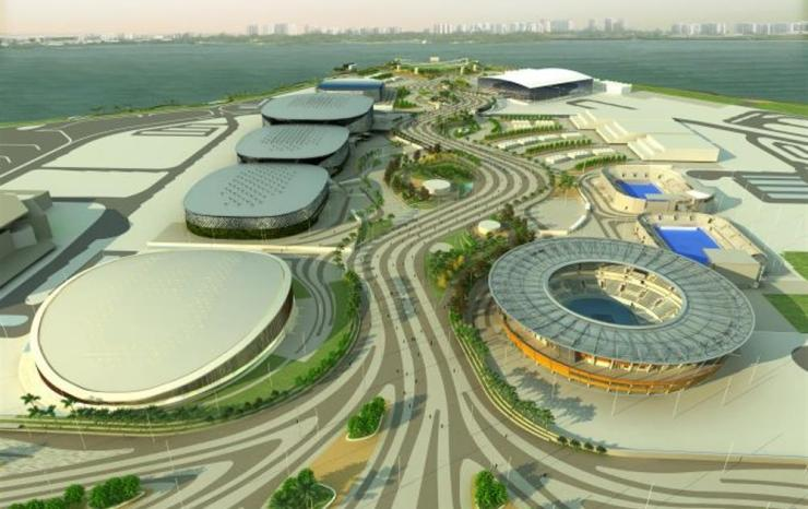como chegar a barra da tijuca olimpiadas foto do complexo