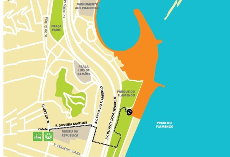 como chegar a copacabana olimpiadas-mapa-marina da gloria