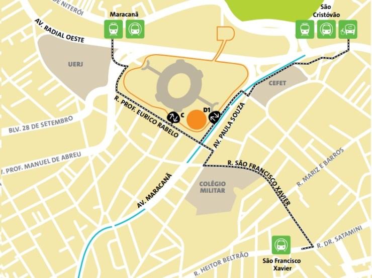 como-chegar-ao-maracana-mapa-maracana Como chegar ao Maracanã | Guia Olímpico Rio 2016