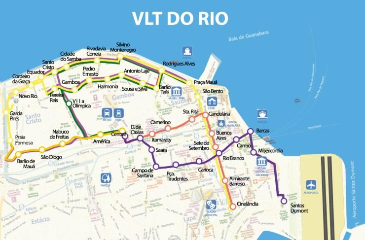 mapa-vlt Mapa do VLT Rio em tamanho grande
