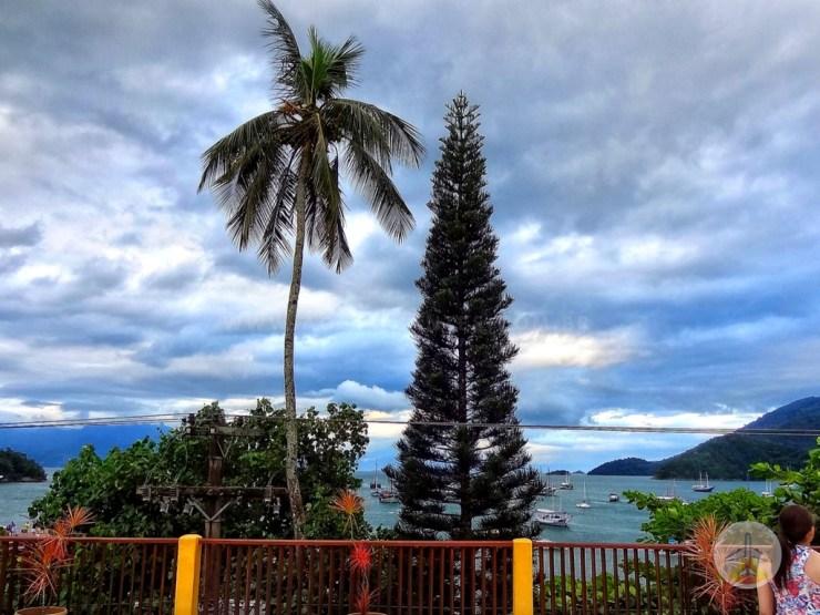 Como chegar a Ilha Grande e onde se hospedar - vista cafe da manha pousada lonier