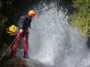 Gilles en haut de la cascade de 95 m