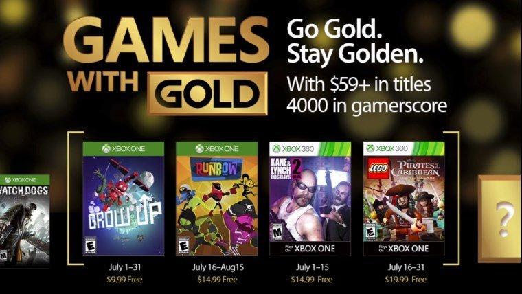 Xbox Games with Gold July 2017
