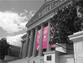 National Archives in black and white