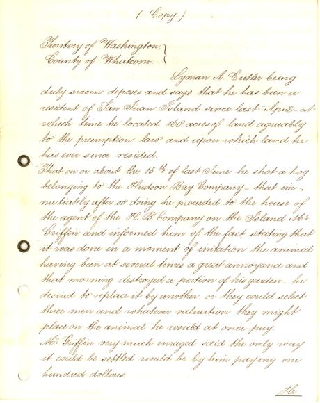 Cutlar affidavit Page 1