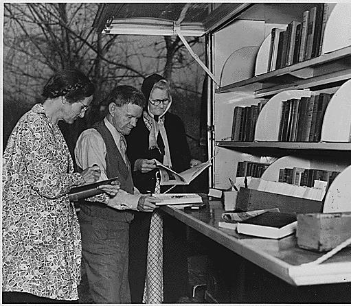 WPA Library Bookmobile 195912