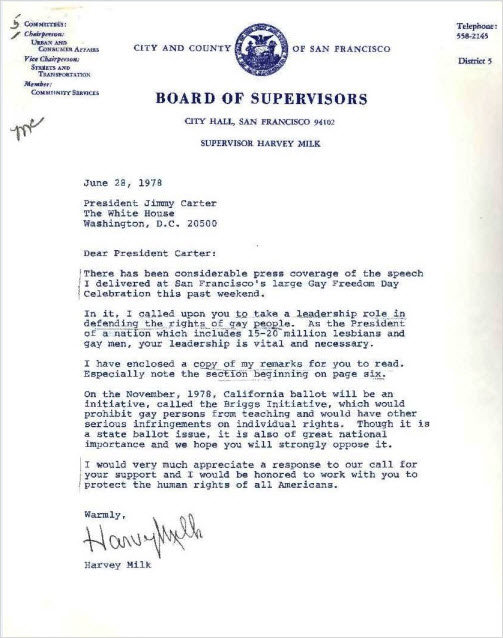 Harvey Milk Letter 152903
