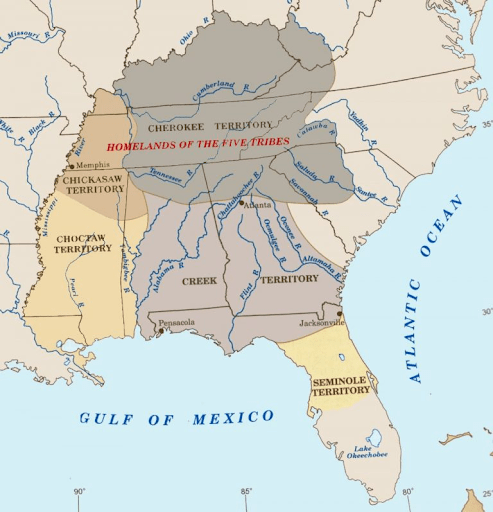 Map showing the Muskogee Nation. Source: Native Land