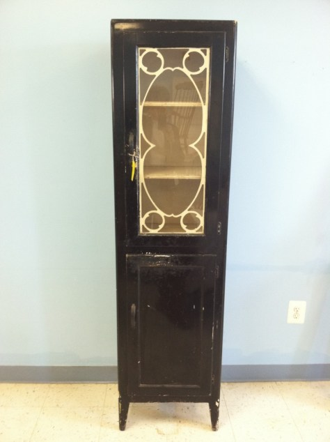 Photo furniture black tall cabinet