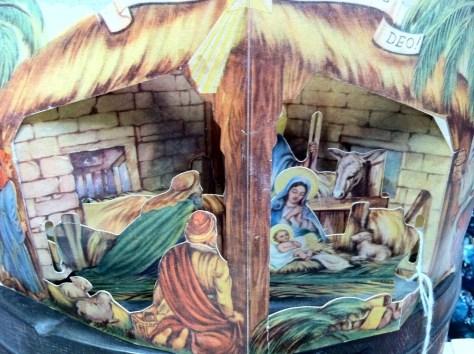 Photo Holiday Nativity 3D paper diorama