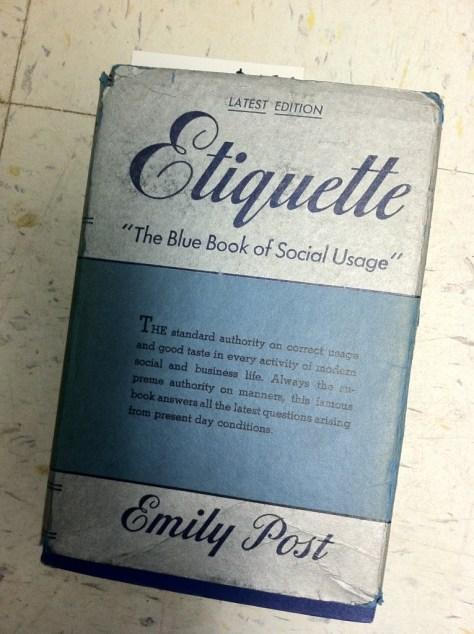 Photo books etiquette
