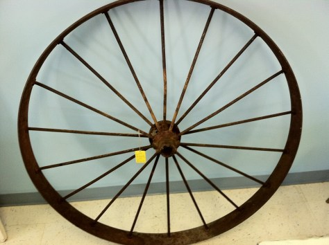 Photo garden carriage wheel