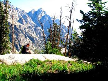 Grizzly lake adventures start out at the parking lot of the jenny lake trail head in the tetons. With a brief layover at hidden falls, inspiration point and holly lake in Grand Teton national park wyoming.