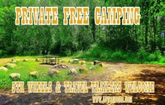 Safe, secure and private free camping options are found throughout the Spider Lake Trails Recreational Area. Big enough for 5th wheels and travel trailers. Secluded enough for truck campers and vans to boondock in privacy and peace.