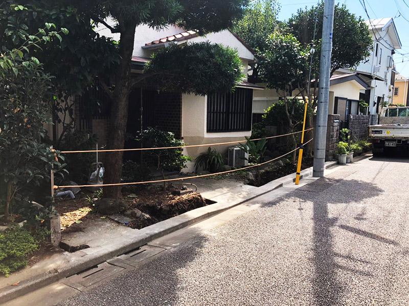 塀の解体撤去施工後1