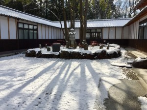 美術館「日月舎」の雪景色