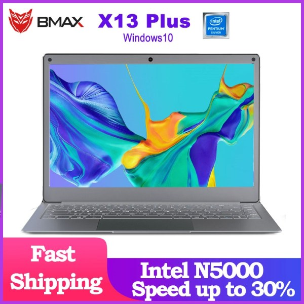 "Newest Laptop BMAX X13PLUS 13.3"" Intel Pentium Silver N5000 1920x1080 IPS Notebook 4GB RAM 64GB ROM Laptops Windows 10 Computer 1"