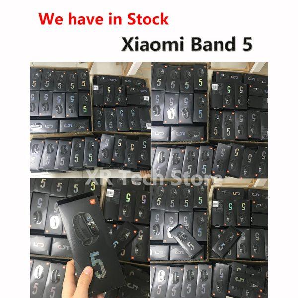Xiaomi Mi Band 5 Smart Bracelet Band AMOLED Screen Miband 5 Smartband Fitness Wristband Heart Rate Monitor Bluetooth Sport Water 2