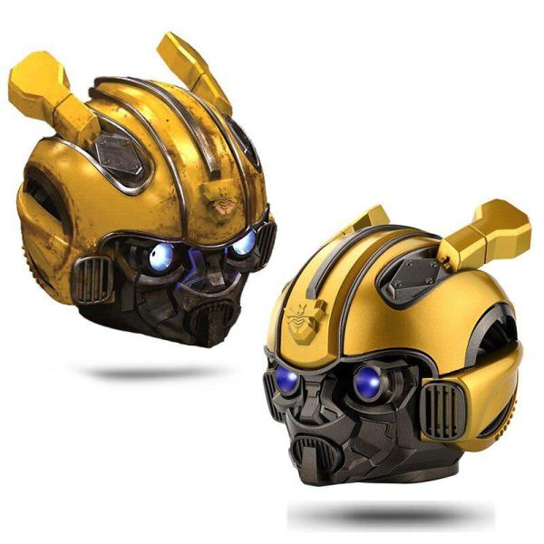 Kuulee Bumblebee Helmet Bluetooth Speaker Fm Radio Usb Mp3 TF Smart Subwoofer Bluetooth 5.0 Mini Wireless Stereo Loudspeakers 3