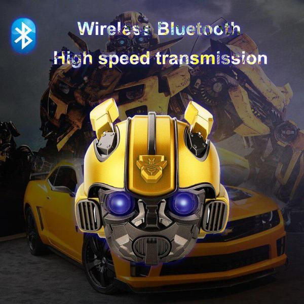 Kuulee Bumblebee Helmet Bluetooth Speaker Fm Radio Usb Mp3 TF Smart Subwoofer Bluetooth 5.0 Mini Wireless Stereo Loudspeakers 6