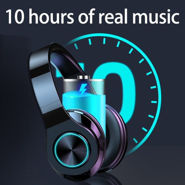 Wireless Headphones Bluetooth Earphone 5.0 Deep Bass Stereo Noise Reduction Gaming Headsets For Mobile 3