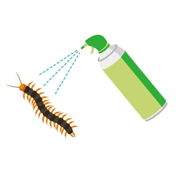ムカデ駆除に家の中でも使える市販の忌避剤と殺虫剤を紹介