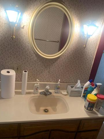 Bathroom featured at 6832 Cleveland Rd, Ravenna, OH 44266